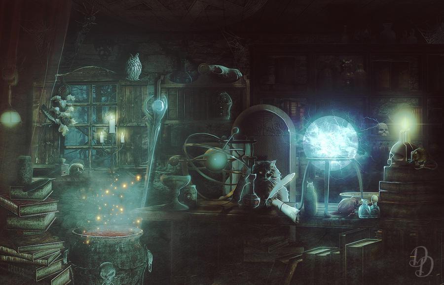 Wizard`s room by DareDevilDante