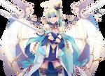 Angel girl with swords Render