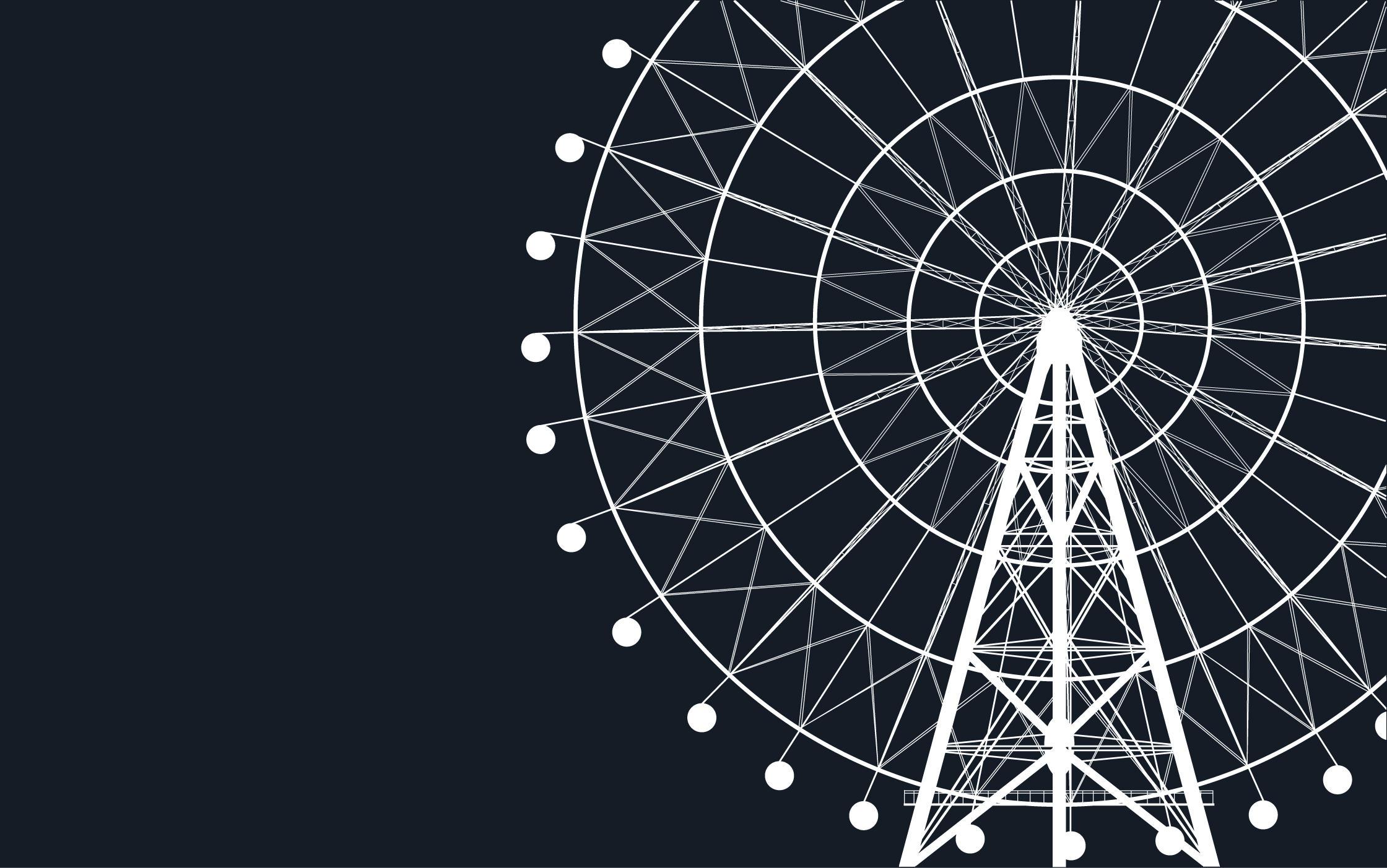 ferris wheel by... Ferris Wheel Vector Free Download