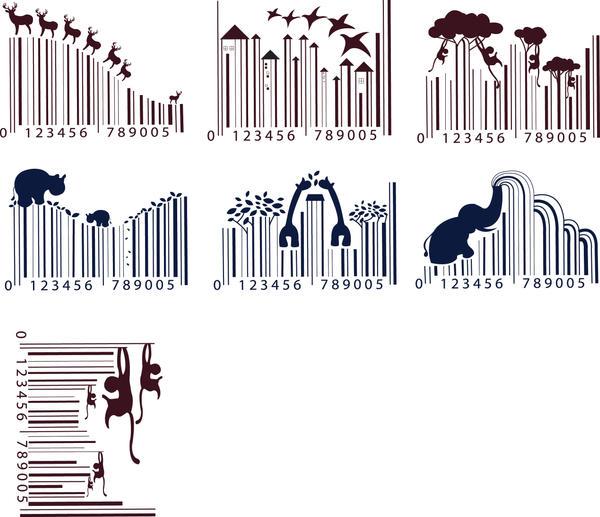 Barcode animal art