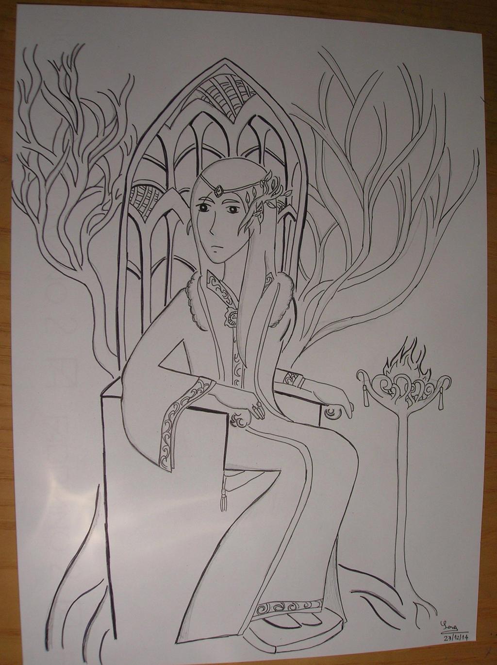 Thranduil, King of Mirkwood by saramarconato