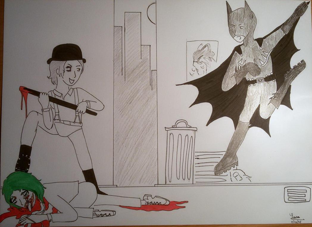 Alex Delarge, Gotham City new terror by saramarconato
