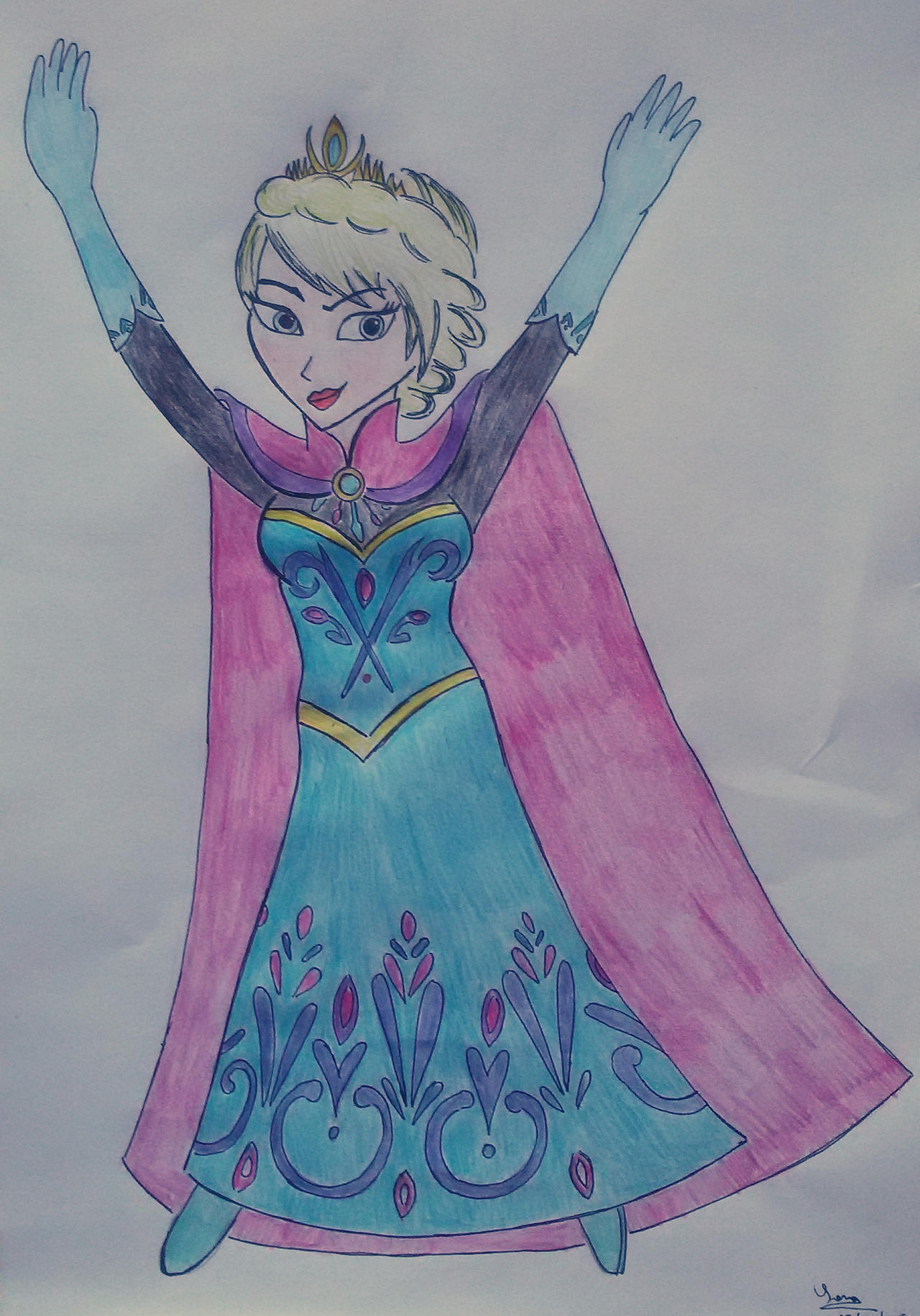 Queen Elsa by saramarconato