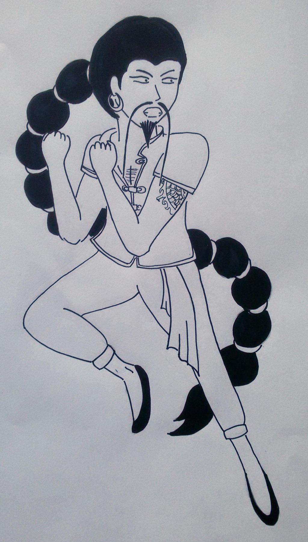 Chinese man by saramarconato