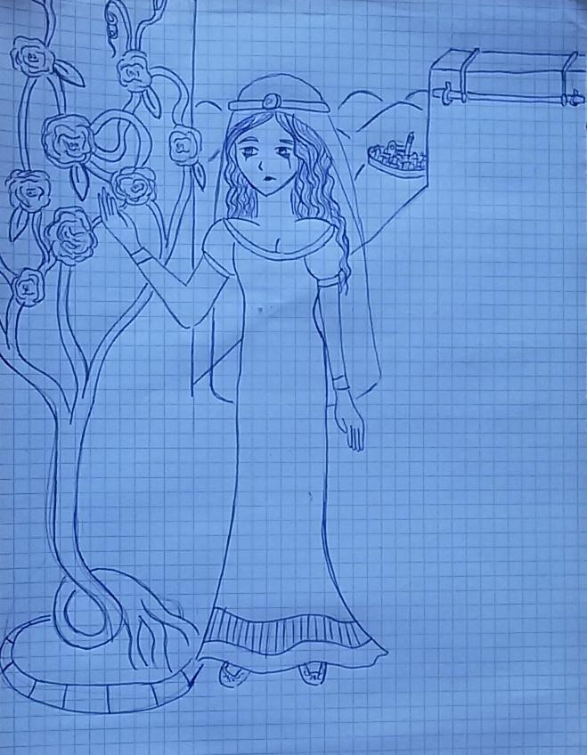 Sad Medieval Lady by saramarconato