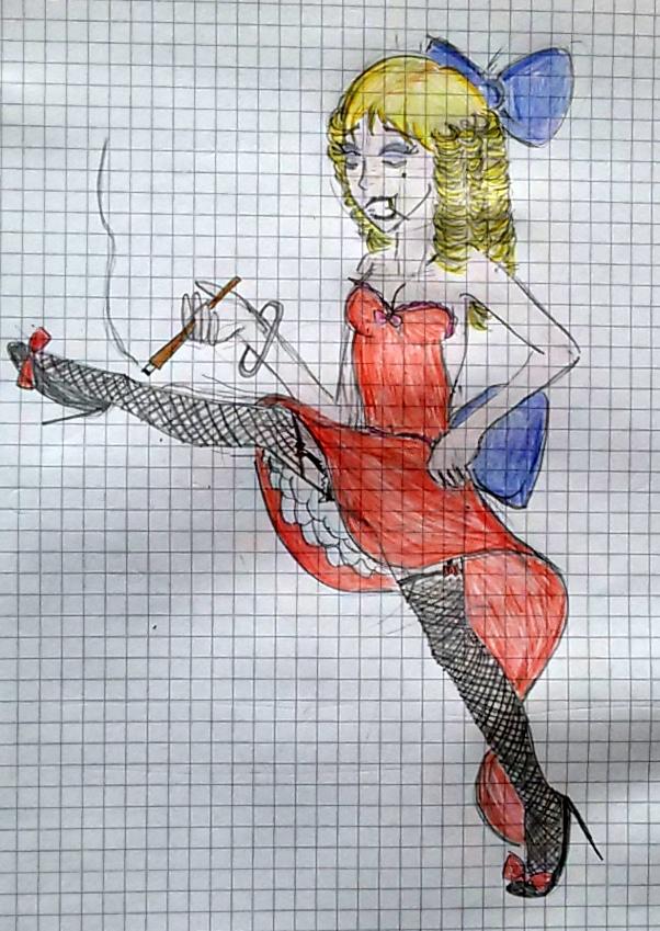 Saloon Girl by saramarconato