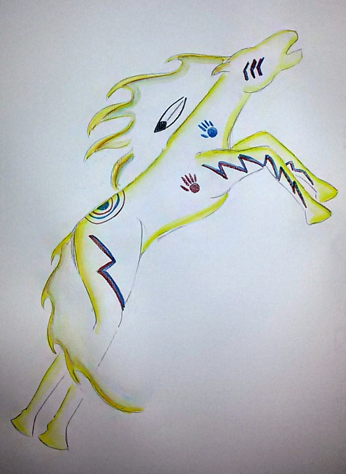 Native American Horse by saramarconato