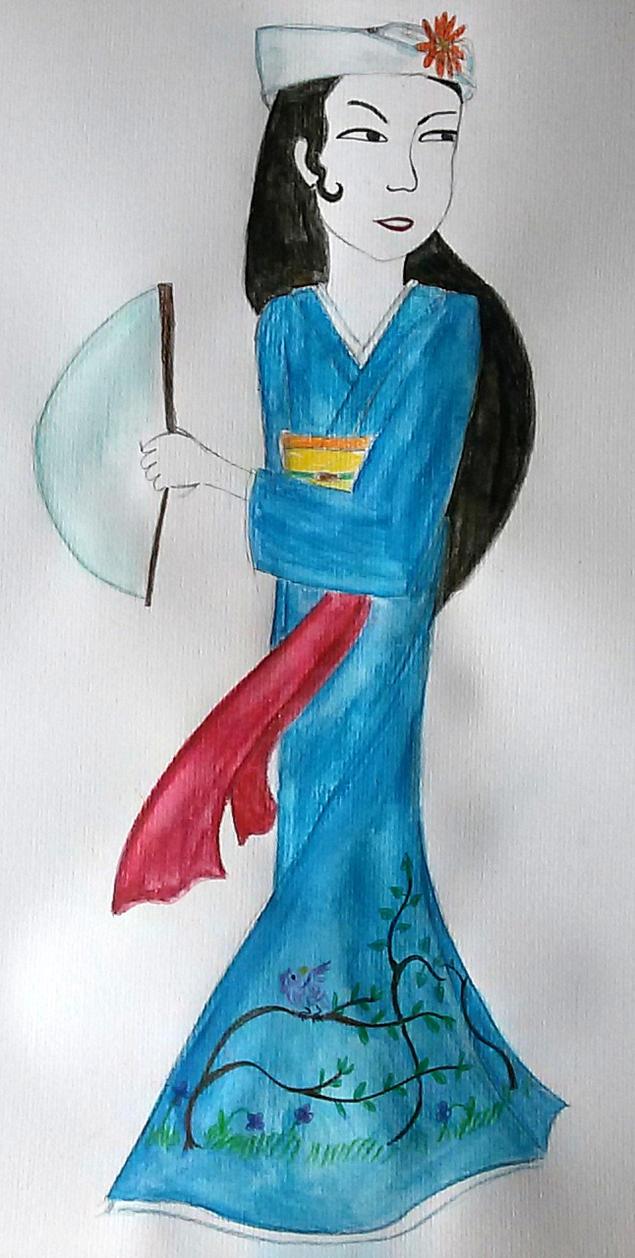 Sagami (Noble maiden) by saramarconato