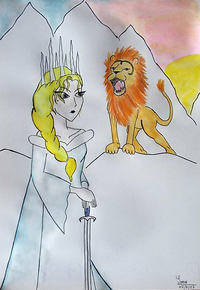 The Lion and the White Witch (or The Last Battle) by saramarconato