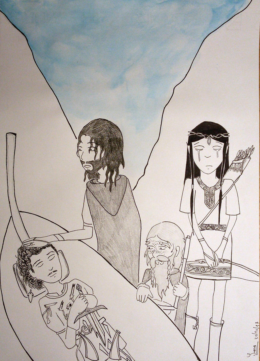 The Departure of Boromir by saramarconato