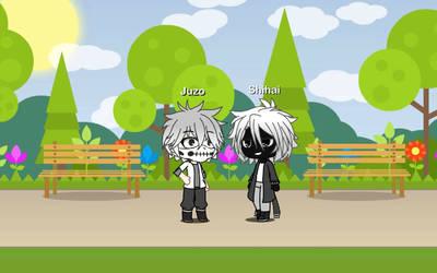(Gacha Life) Juzo and Shihai, civilian style (BNHA by IggyAlfi2319