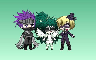 (Gacha Life) Ninja, Angel and Phantom (BNHA)(desc) by IggyAlfi2319