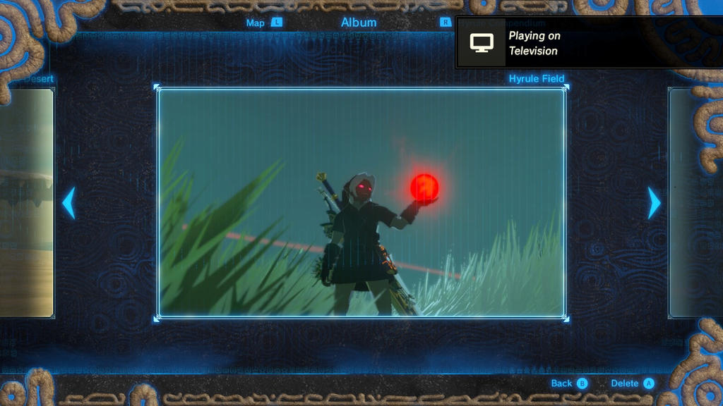 Dark Link holding the Blood Moon by Flainfan