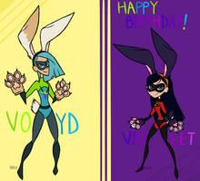 Super Bunny Gals!! Gift! by Bateye