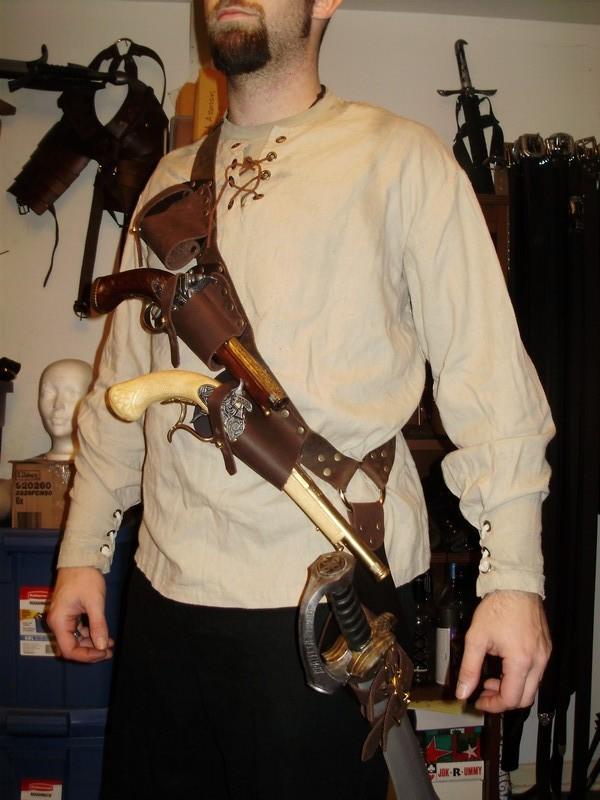 Pirate baldric flintlock holster kit by marcuslerenard on DeviantArt
