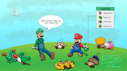 4/20 (Mario-juana Day) by Ele-Bros