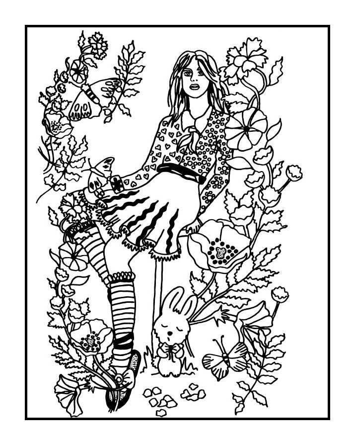 Your Secret Garden - Coloring Book Page by FractalBee