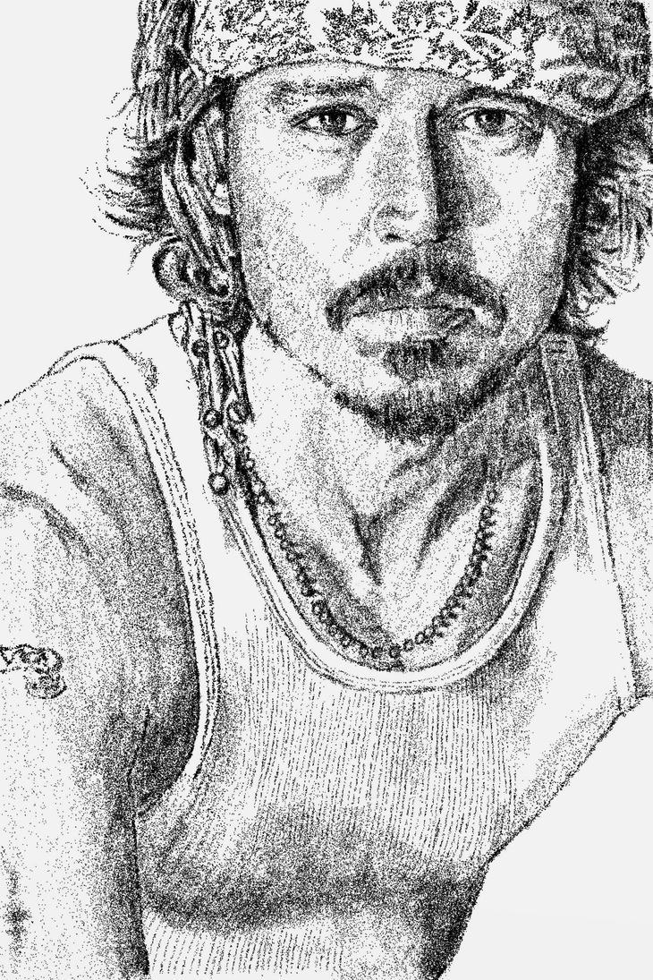Portrait of Johnny Depp by FractalBee