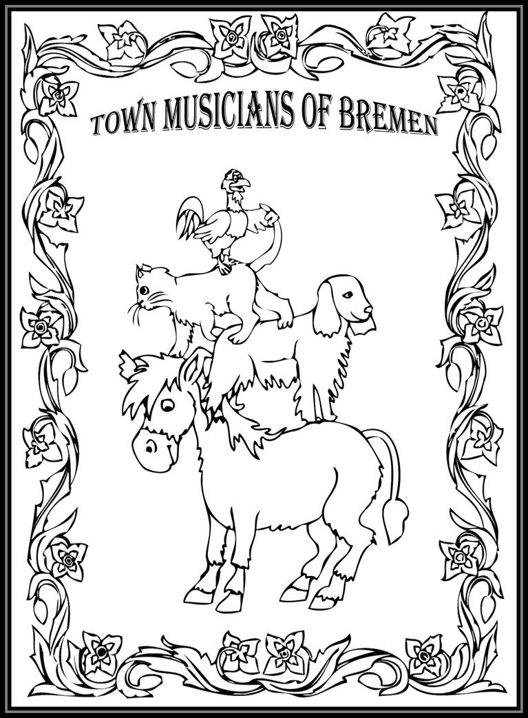 story book character coloring pages   Town Musicians of Bremen - Storybook/coloring Page by ...