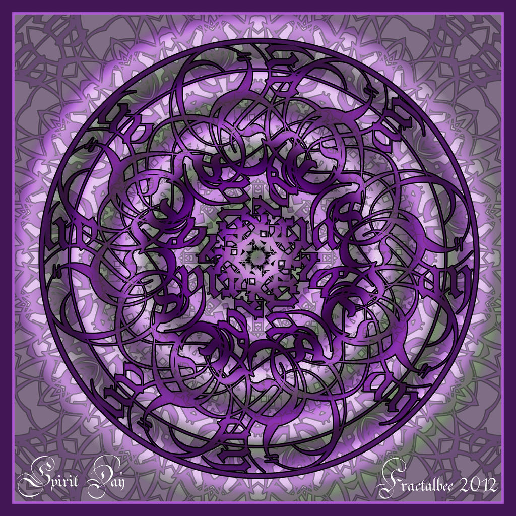 Spirit Day Mandala by FractalBee