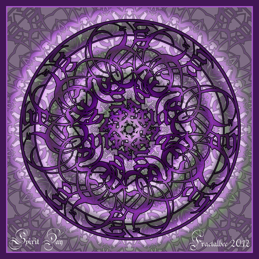 Spirit Day Mandala by FractalBee