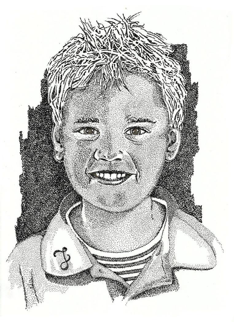 Portrait of a boy by FractalBee