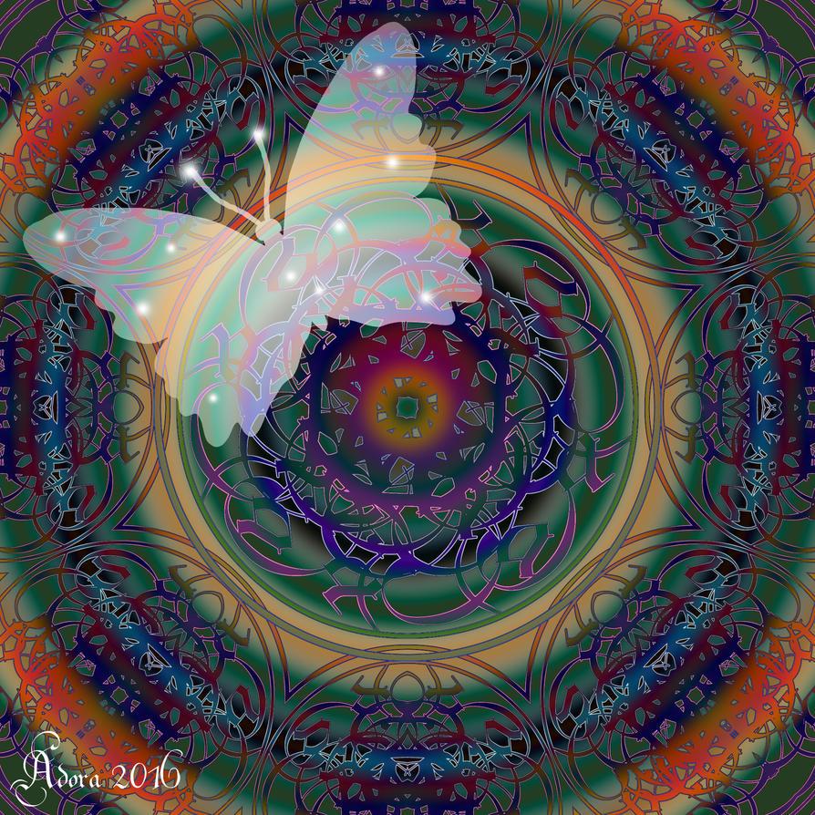 Mandala Gift to Adora by FractalBee