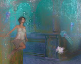 Underwater: My home is my Castle. by FractalBee