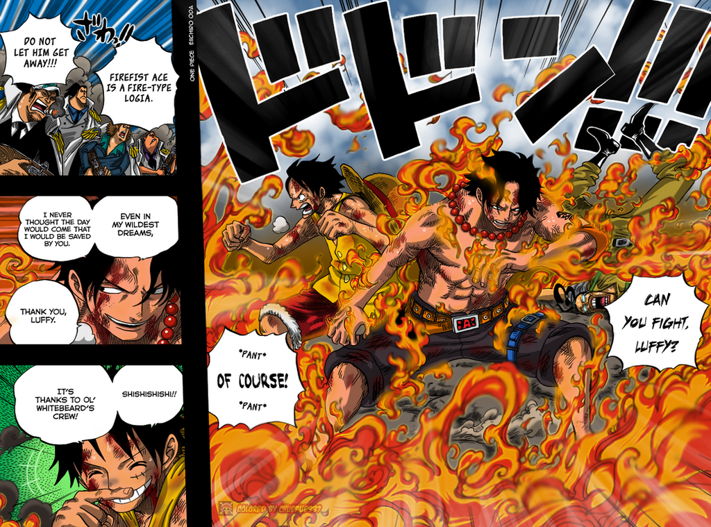 One Piece 572 pg04-05 colored by chuefue337 on DeviantArt