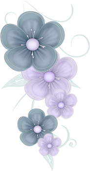 Blue Flowers PNG by PVS