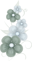 Green Flowers PNG by PVS
