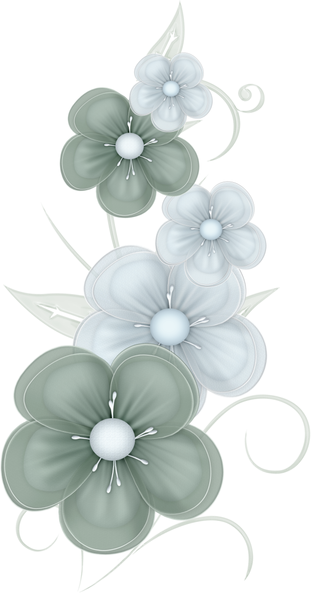 Green Flowers PNG by PVS by pixievamp-stock on DeviantArt