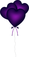Purple Heart PNG by PVS by pixievamp-stock