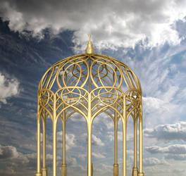 Gold Pagoda Background PVS
