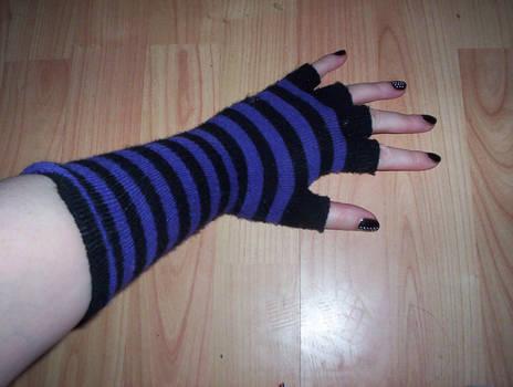 Purple Strippy Glove