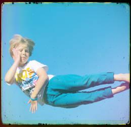 levitating kid by maView