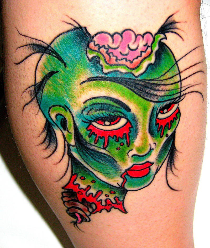 zombie pinup tattoo by mikelutes on deviantart. Black Bedroom Furniture Sets. Home Design Ideas