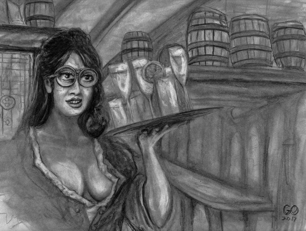 Bubbles the Barmaid by GaryMOConnor