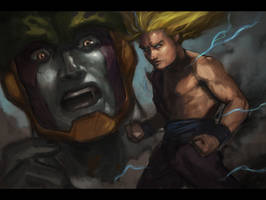 Gohan vs Cell WIP by madsamuri2240