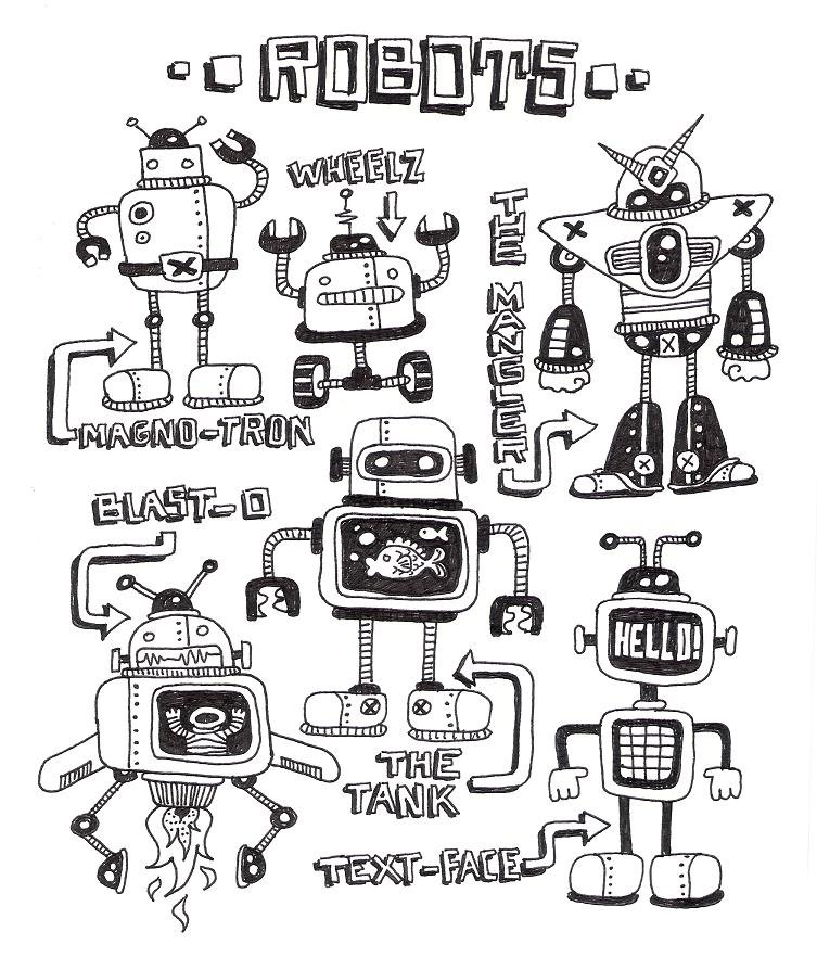 robots by ArtByAlexChiu