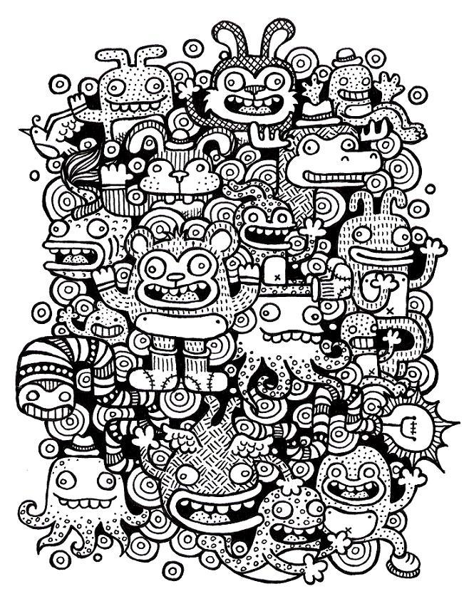 doughnut doodles by ArtByAlexChiu