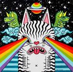 Cosmic Cat by ArtByAlexChiu