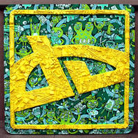Deviant Art Logo Sculpture