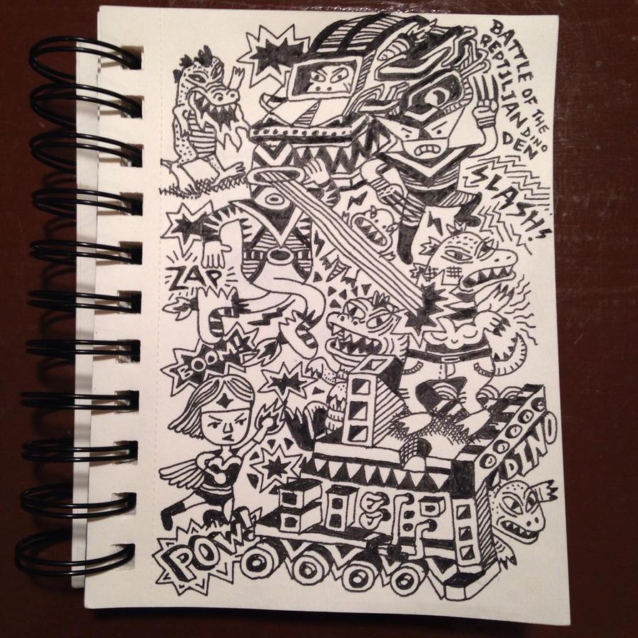 Battle of Dino den by ArtByAlexChiu