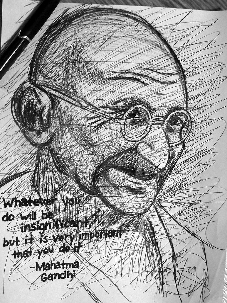 Mahatma Gandhi by SpiderRainboots