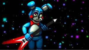 Toy Bonnie playing his Guitar