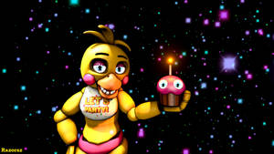 Chica and her cupcake