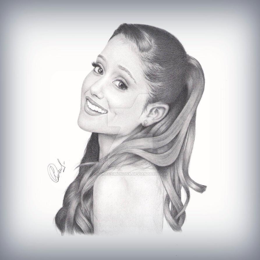 Ariana grande portrait by daryasimonova
