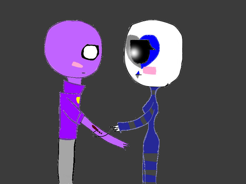 Purple guy x sarrow by shinynight1 on deviantart