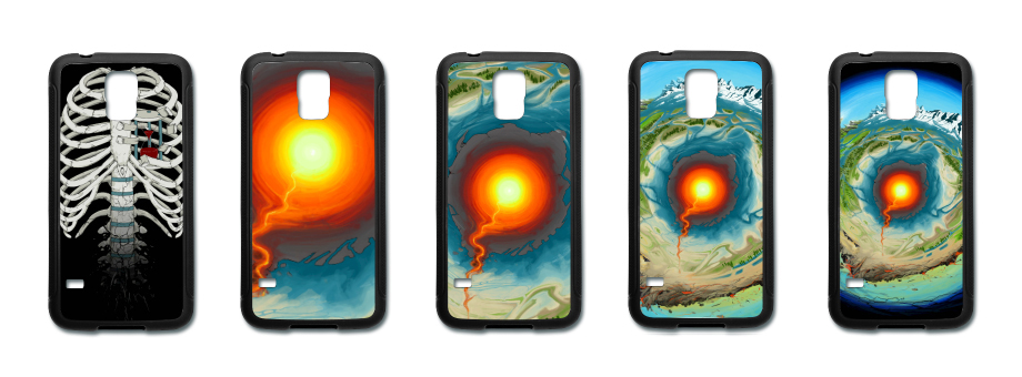 Element and TAU s5 rubber phone cases  by gensanity